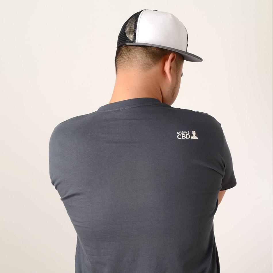 camiseta cbd marihuana back
