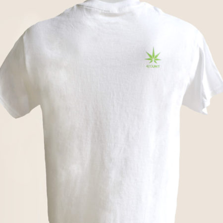 haze white tshirt t-shirt marijuana 420 back